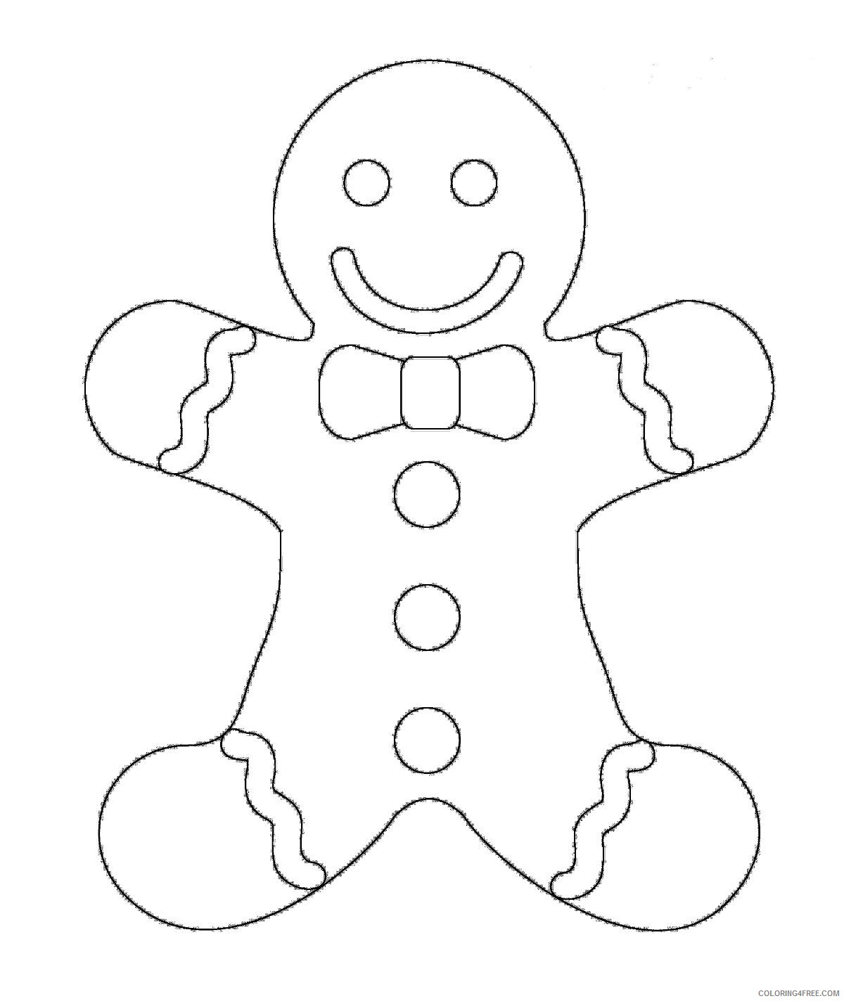 Free Printable Gingerbread Man Coloring Pages For Kids | 1424x1200