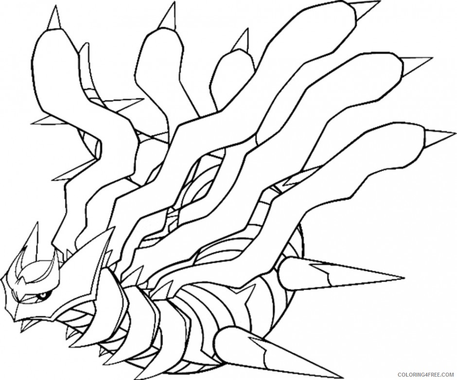 Giratina Legendary Pokemon Coloring Pages Coloring4free - Coloring4Free.com