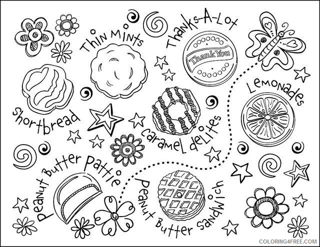 - Girl Scout Coloring Pages Cookies Coloring4free - Coloring4Free.com