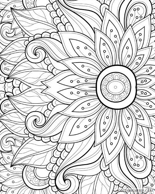 Grown Up Coloring Pages Free To Print Coloring4free - Coloring4Free.com