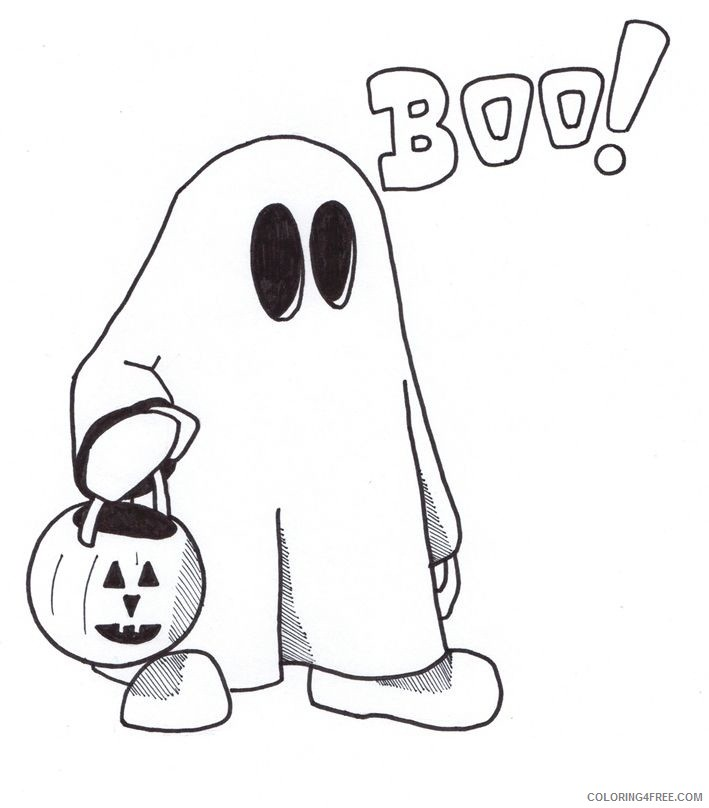 Halloween Ghost Coloring Pages For Kids Coloring4free