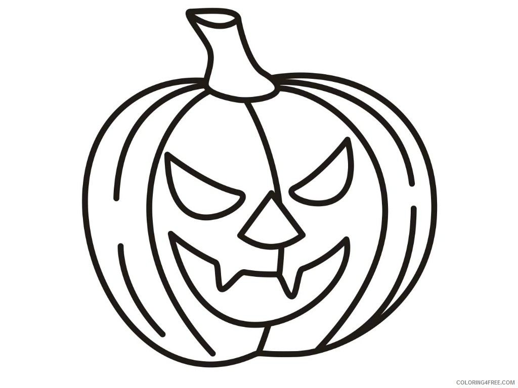 Pumpkin Coloring Pages Free Printable Coloring4free Coloring4free Com