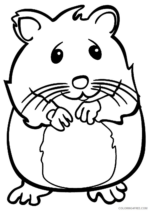 Hamster Coloring Pages To Print Coloring4free Coloring4free Com