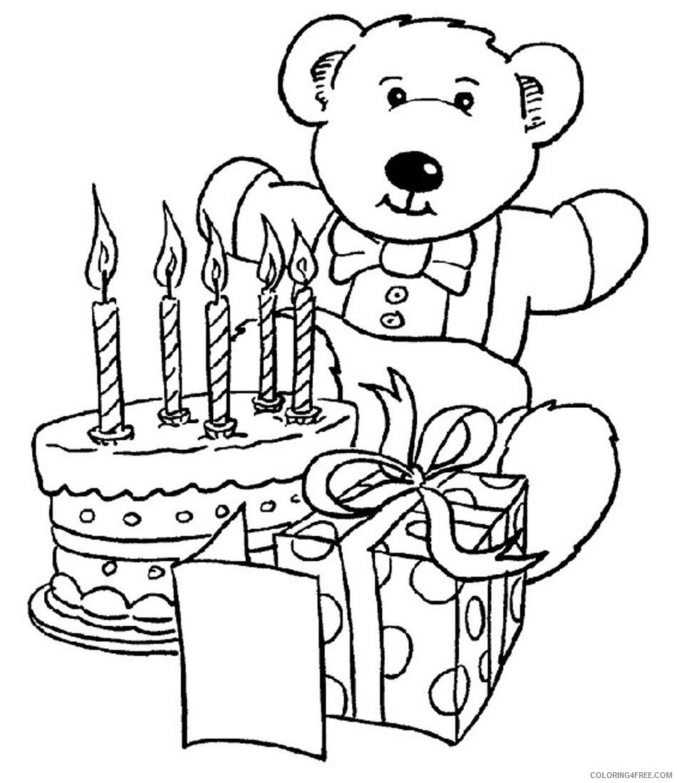 happy birthday coloring pages teddy bear Coloring18free ...