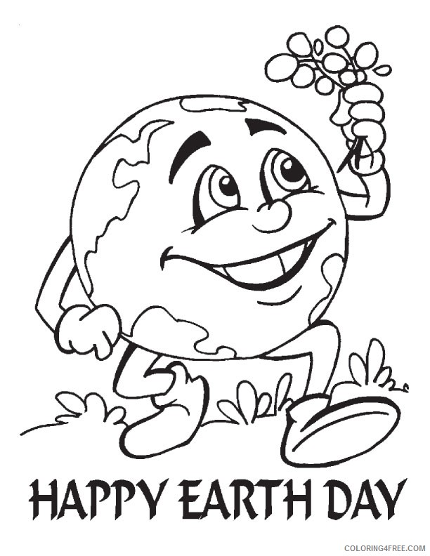 Happy Earth Day Coloring Pages Printable Coloring4free - Coloring4Free.com