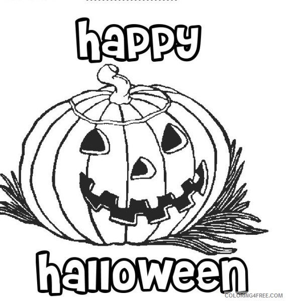 - Happy Halloween Coloring Pages Pumpkin Coloring4free - Coloring4Free.com