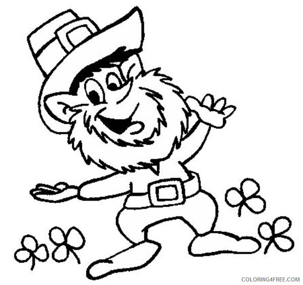 It is a photo of Printable St Patrick's Day Coloring Pages throughout kindergarten
