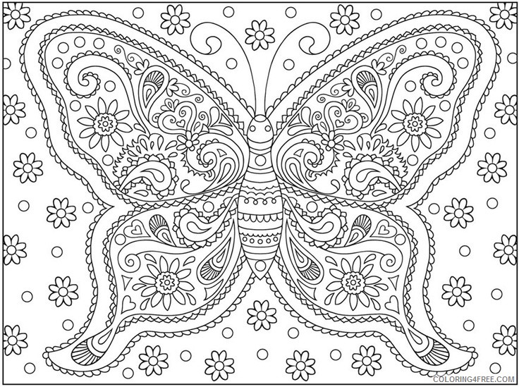 Hard Coloring Pages Of Butterfly Coloring4free - Coloring4Free.com