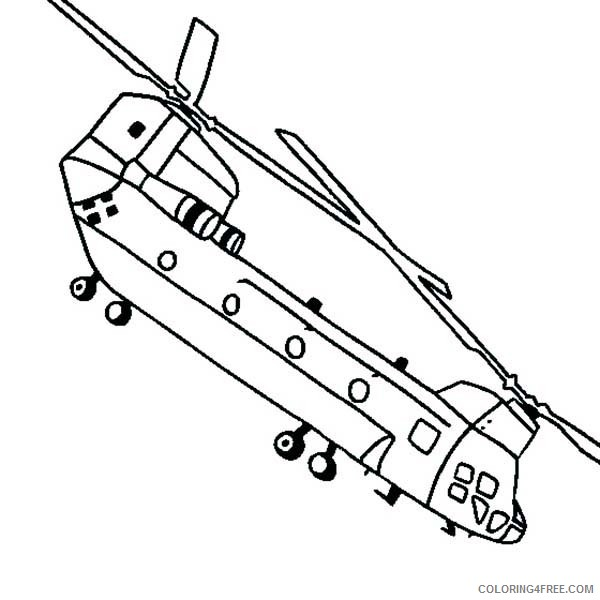 Helicopter Coloring Pages Chinook Coloring4free Coloring4free Com