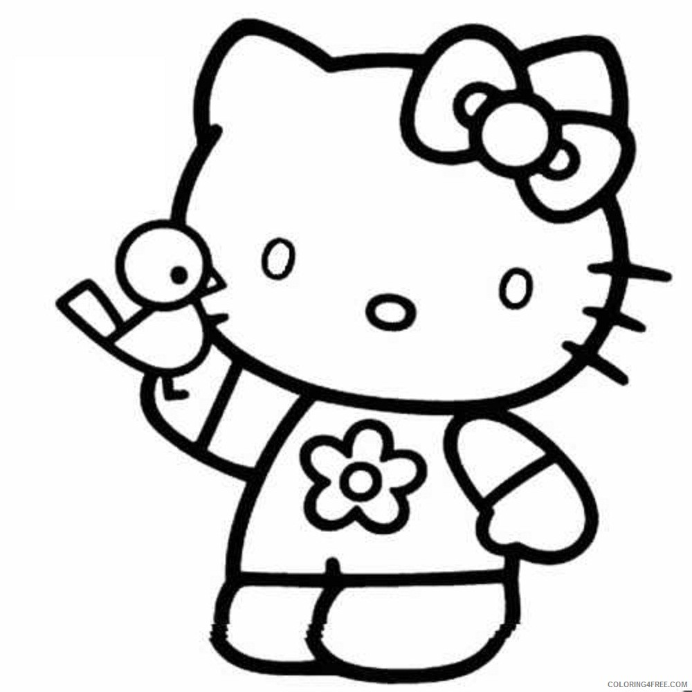 hello kitty coloring pages for kids printable Coloring4free -  Coloring4Free.com