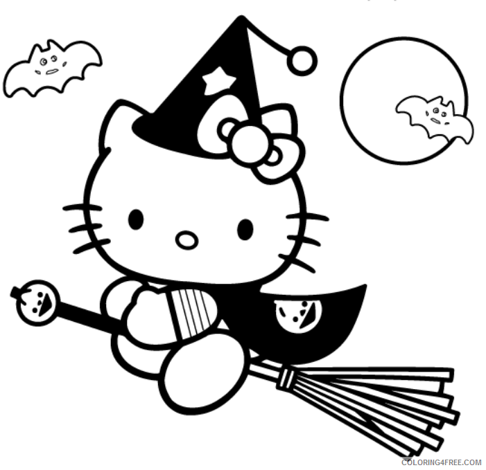 Hello Kitty Coloring Pages Halloween Coloring4free Coloring4free Com