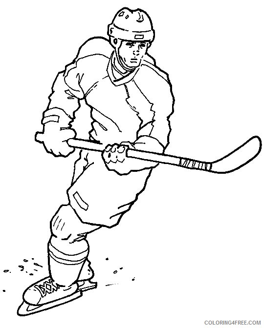 Hockey Coloring Pages To Print Coloring4free Coloring4free Com