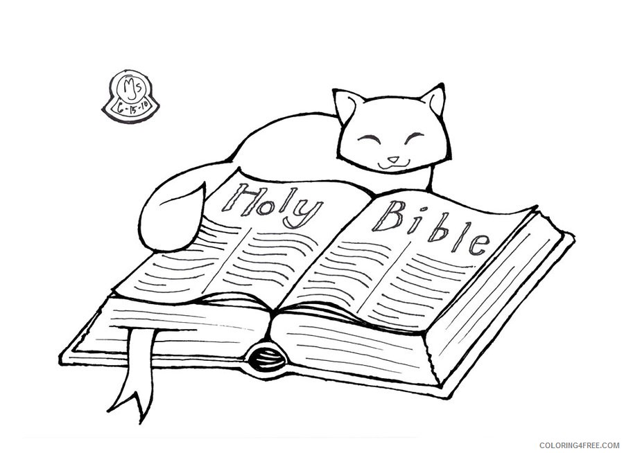 Holy Bible Coloring Pages To Print Coloring4free - Coloring4Free.com