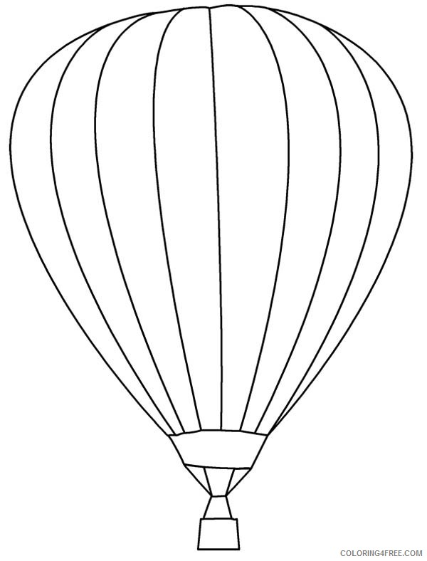 Hot-air balloon coloring page – Coloring Page | 788x600