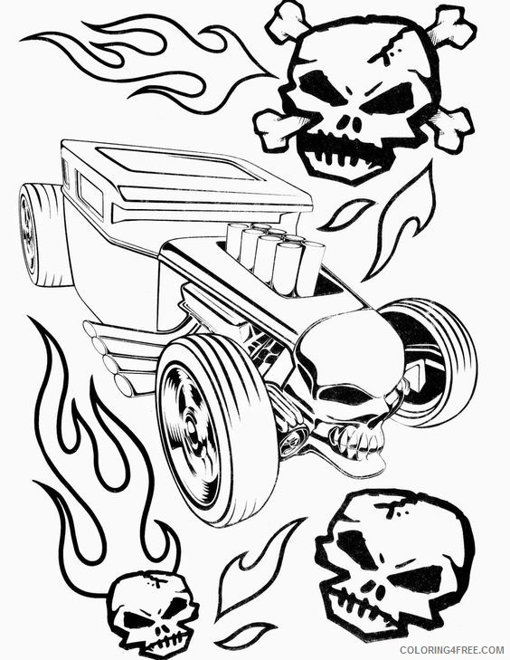 Hot Wheels Coloring Pages Hotrod Car Coloring4free Coloring4free Com