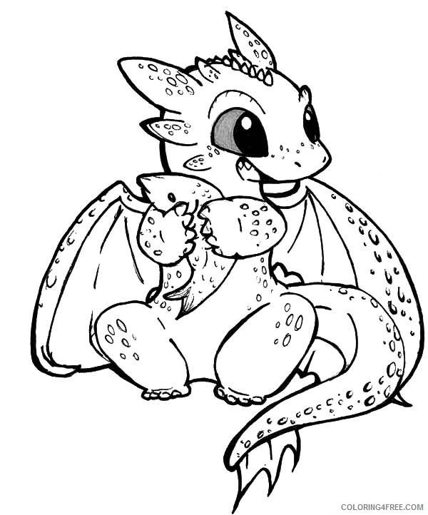 - How To Train Your Dragon Coloring Pages Cute Toothless Coloring4free -  Coloring4Free.com
