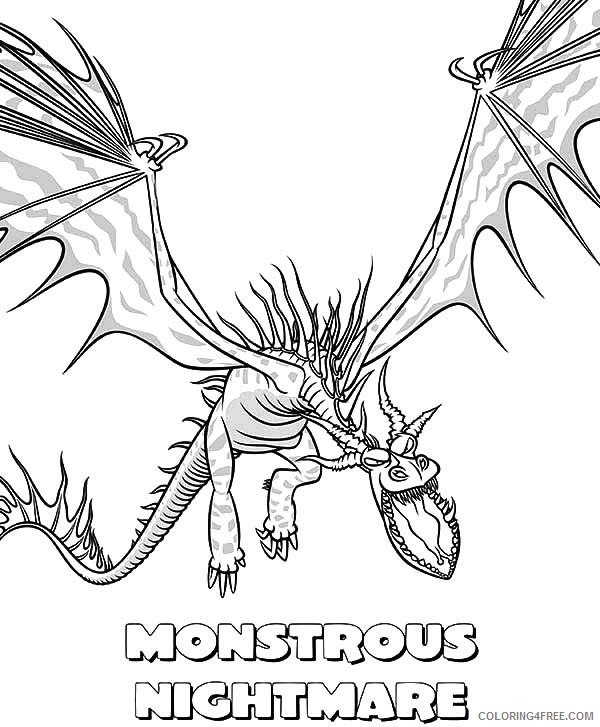 - How To Train Your Dragon Coloring Pages Toothless And Hiccup Coloring4free  - Coloring4Free.com