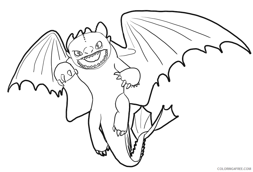 - How To Train Your Dragon Coloring Pages Toothless Coloring4free -  Coloring4Free.com