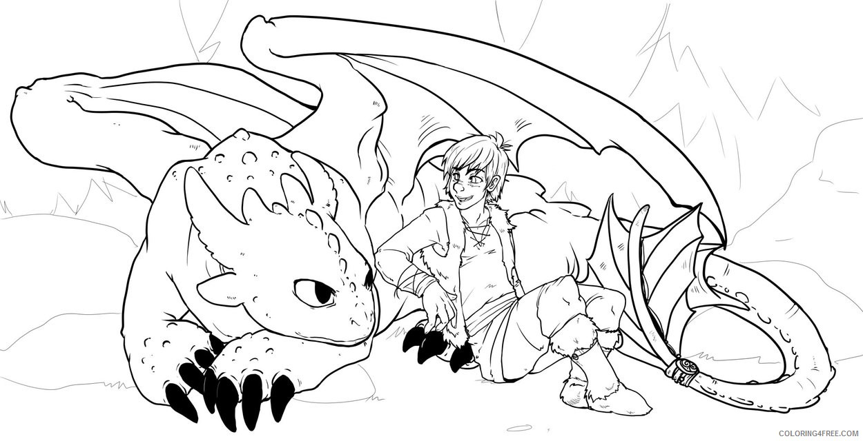 - How To Train Your Dragon Coloring Pages Toothless And Hiccup
