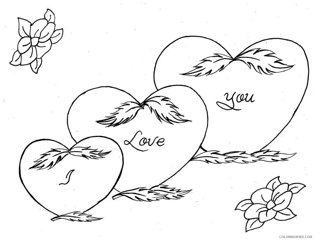 I Love You Coloring Pages Printable Coloring4free Coloring4free Com