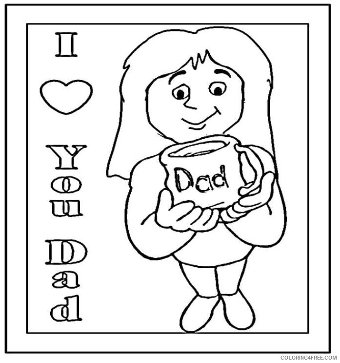 I Love You Dad Color Sheets – Color On Pages: Coloring Pages for Kids | 743x697