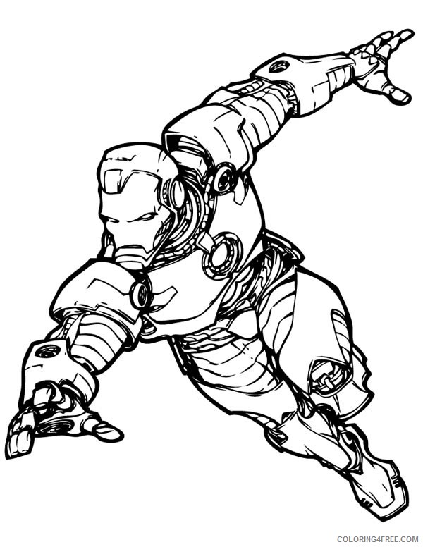 Iron Man Avengers Coloring Pages Coloring4free Coloring4free Com