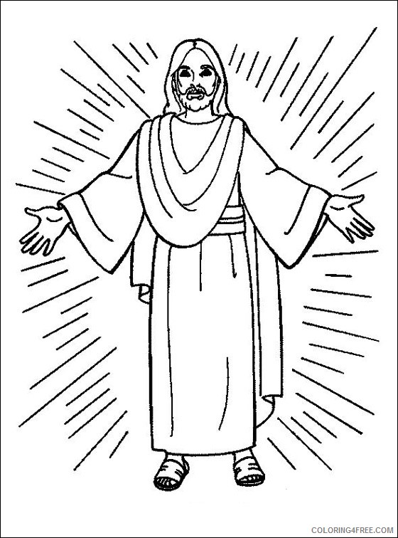 - Jesus Coloring Pages Printable Coloring4free - Coloring4Free.com
