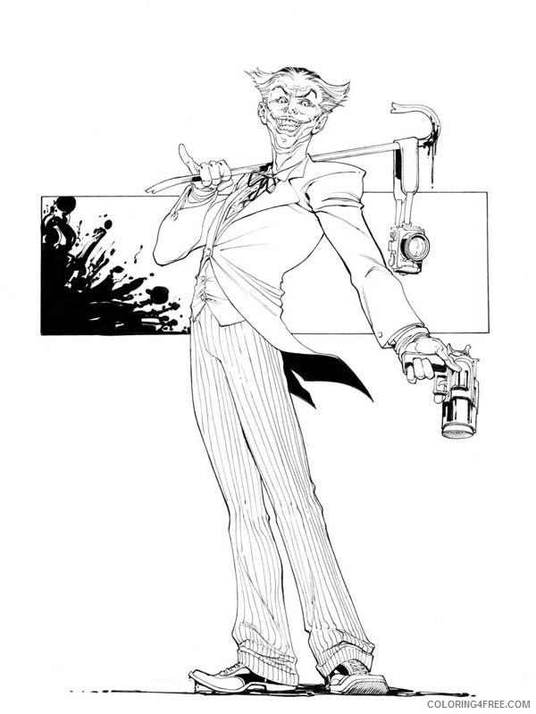 Joker Coloring Pages Free Printable Coloring4free Coloring4free Com