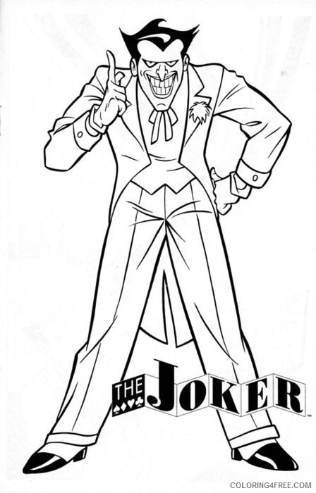 Joker Coloring Pages To Print Coloring4free Coloring4free Com