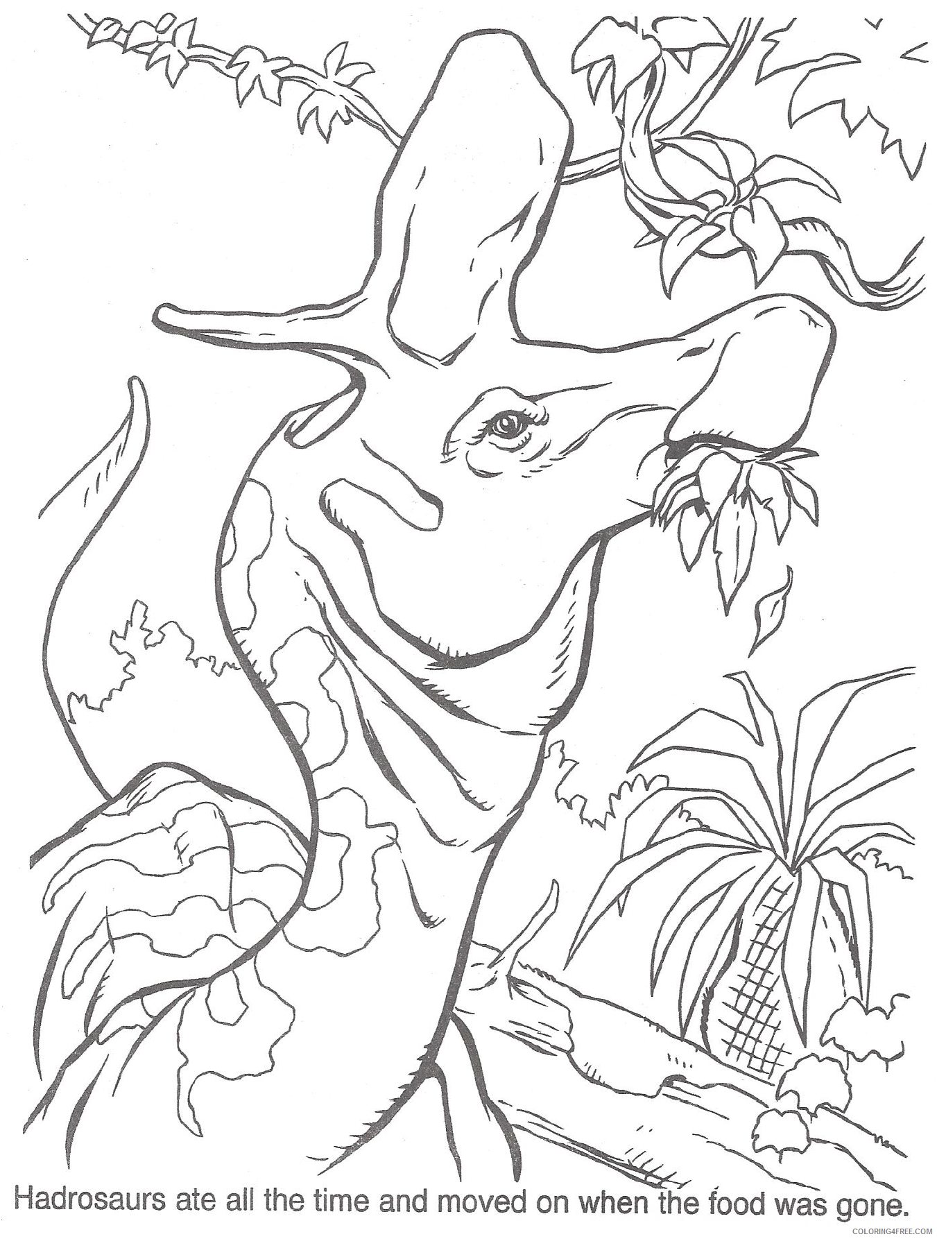 jurassic park coloring pages baby dinosaur Coloring4free ... | 1786x1351