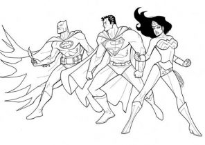 Justice League Coloring Pages Coloring4free Com