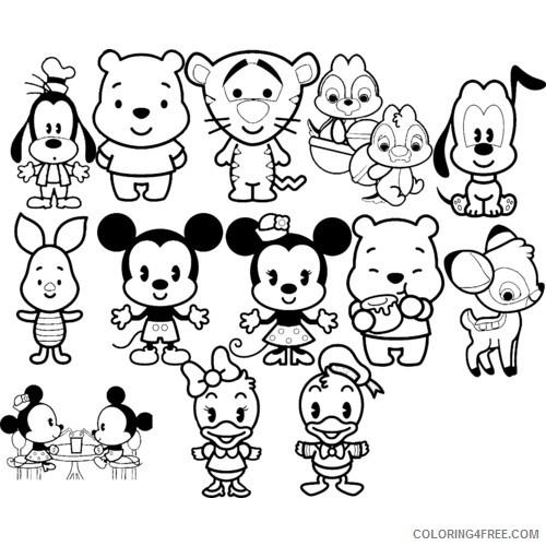 Kawaii Coloring Pages Disney Coloring4free Coloring4free Com