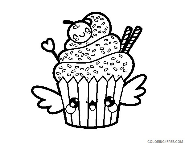 Terrific Kawaii Coloring Pages Free Fresh Food Healthy - coloring ... | 470x600