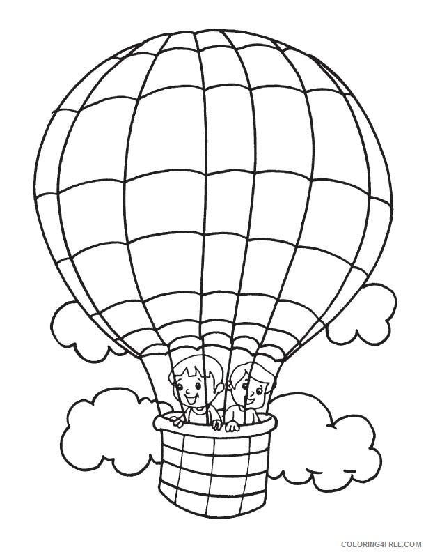 Free Printable Hot Air Balloon Coloring Pages | Free Coloring ... | 792x612