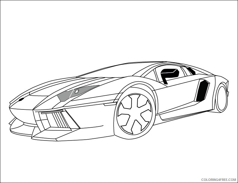 Lamborghini Gallardo Front View Sketch