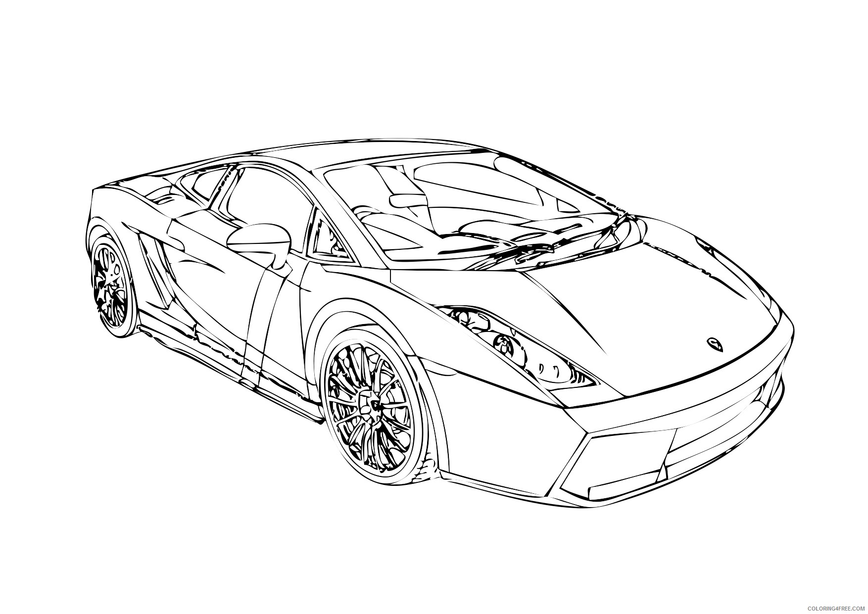 aventador side view coloring pages