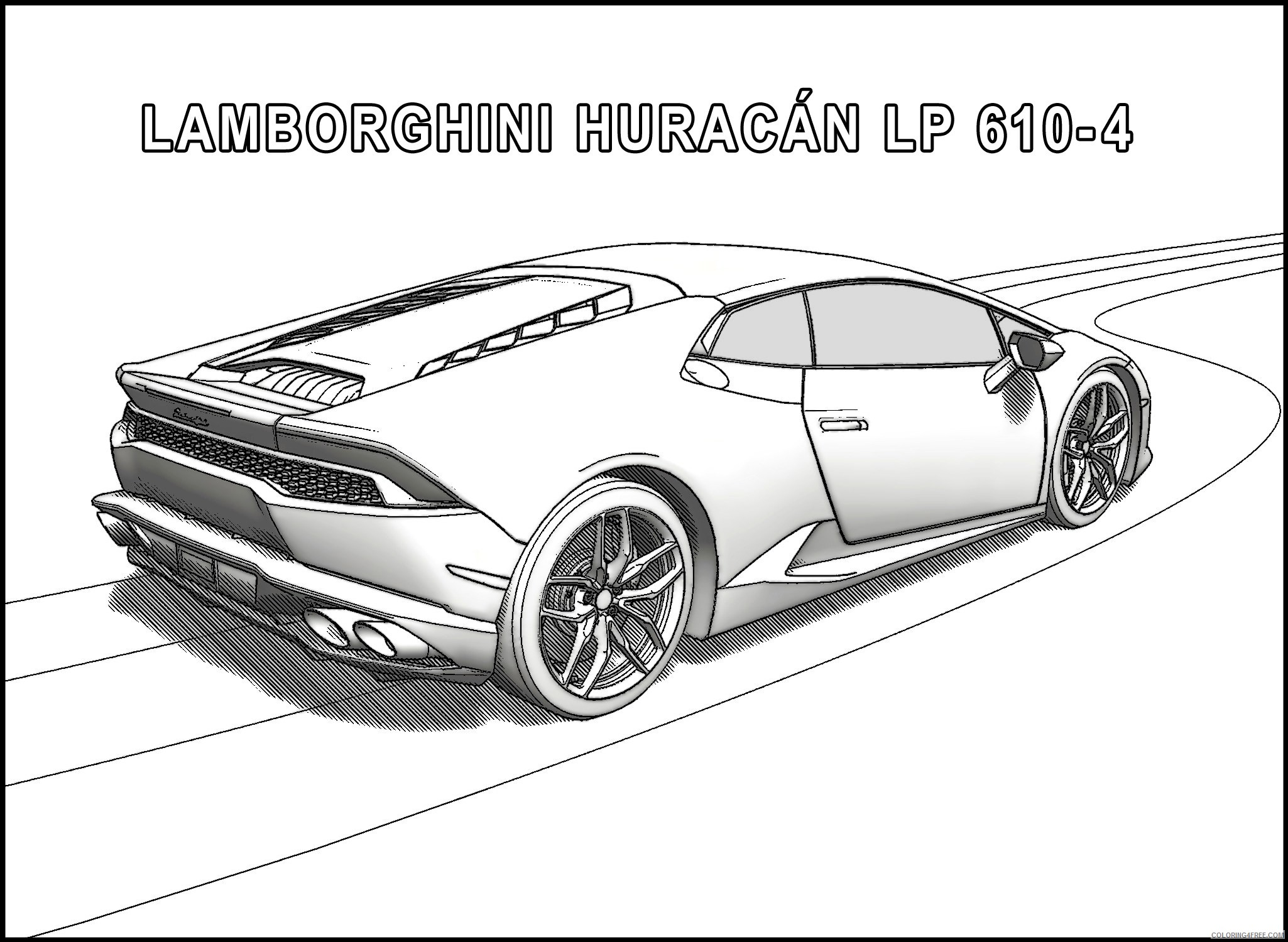 lamborghini huracan coloring pages side view Coloring4free ...