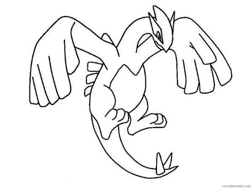 - Legendary Pokemon Coloring Pages Lugia Coloring4free