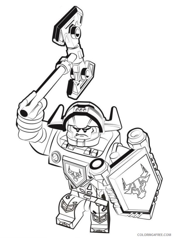 - Lego Coloring Pages Nexo Knights Coloring4free - Coloring4Free.com