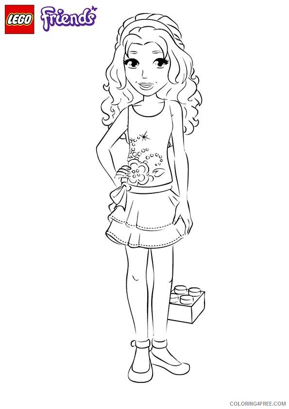 - Lego Friends Coloring Pages Emma Coloring4free - Coloring4Free.com