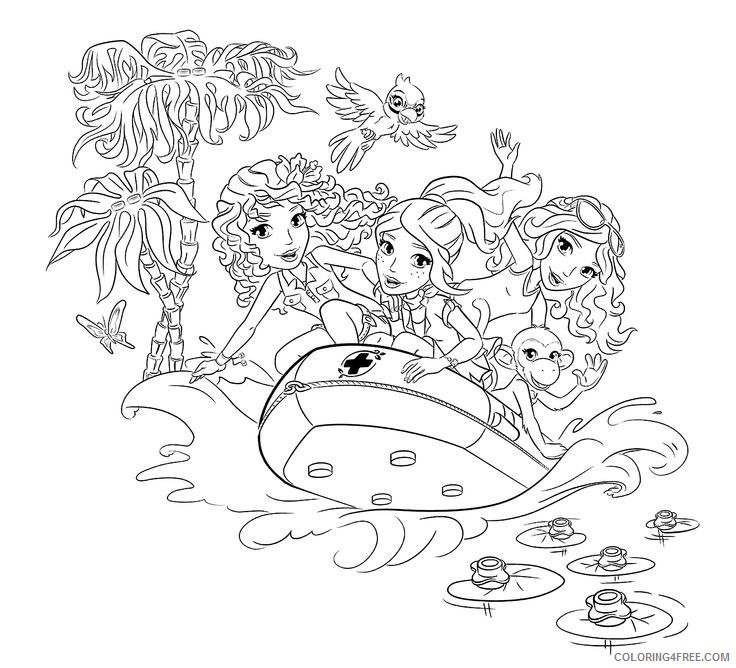 Lego Friends Coloring Pages Free To Print Coloring4free Coloring4free Com