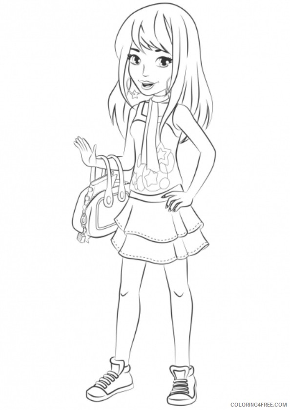- Lego Friends Coloring Pages Stephanie Coloring4free - Coloring4Free.com