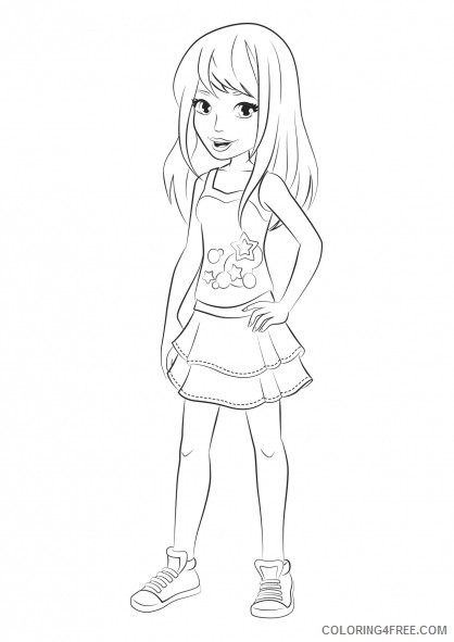- Lego Friends Stephanie Coloring Pages Coloring4free - Coloring4Free.com