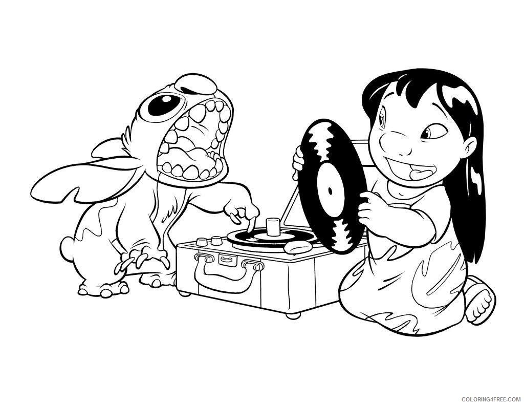 Lilo and Stitch Coloring Pages Free Lineart Drawing Ideas 684 ...   791x1024