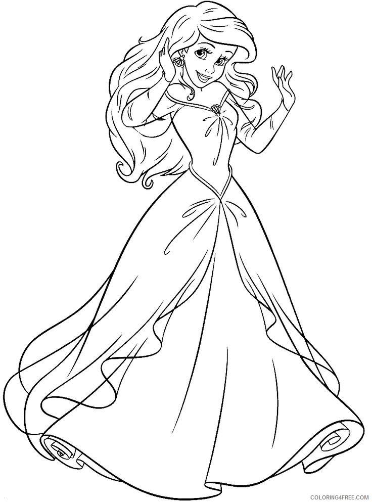 - Little Mermaid Coloring Pages Princess Ariel Coloring4free -  Coloring4Free.com
