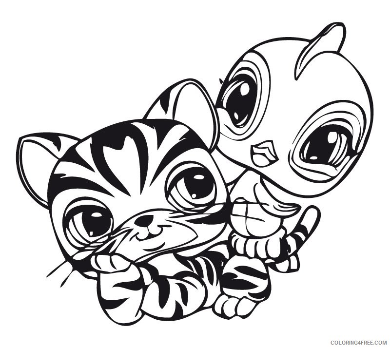 Cuties' Free Animal Coloring Pages | Animal coloring pages, Cute ... | 714x800