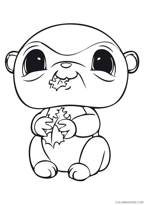Littlest Pet Shop Coloring Pages For Kids Coloring4free - Coloring4Free.com