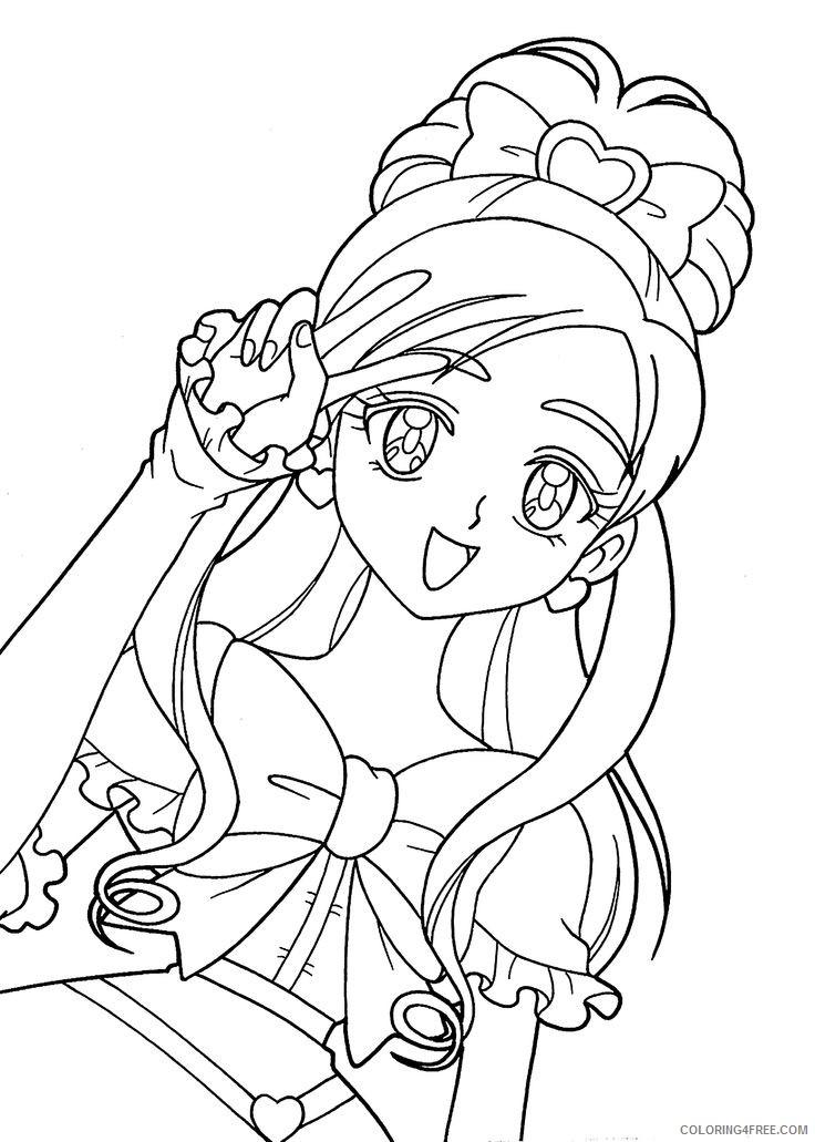 Manga Coloring Pages Kawaii Coloring4free Coloring4free Com