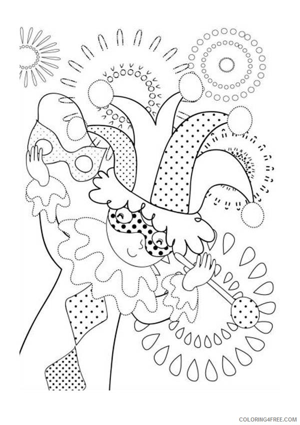 Mardi Gras Coloring Pages Free Printable - Coloring Home | 848x600