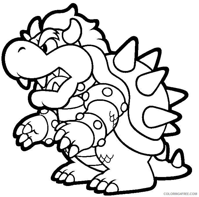 Mario Kart Bowser Coloring Pages Coloring4free Coloring4free Com